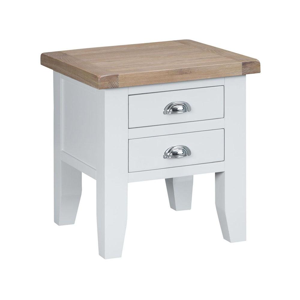 Henley White Lamp Table
