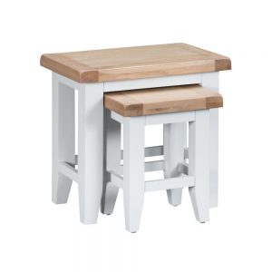 Henley White Nest of 2 Tables