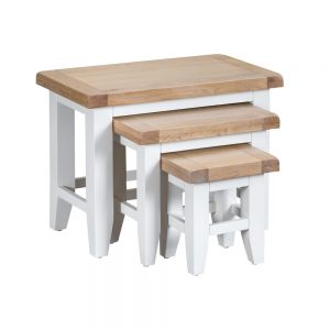 Henley White Nest of 3 Tables