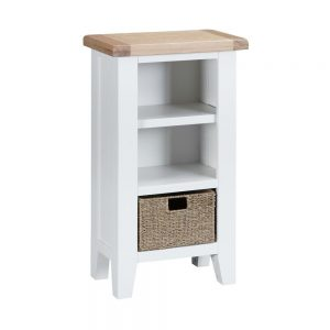 Henley White Small Narrow Bookcase