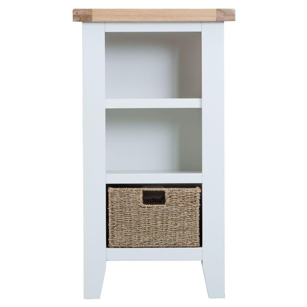 Henley White Small Narrow Bookcase