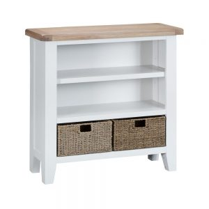 Henley White Small Wide Bookcase