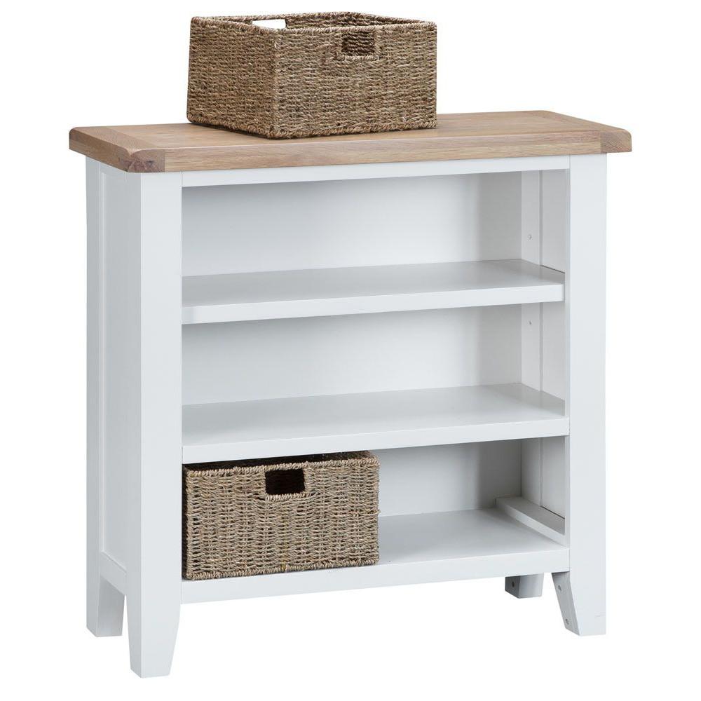 Henley White Small Wide Bookcase