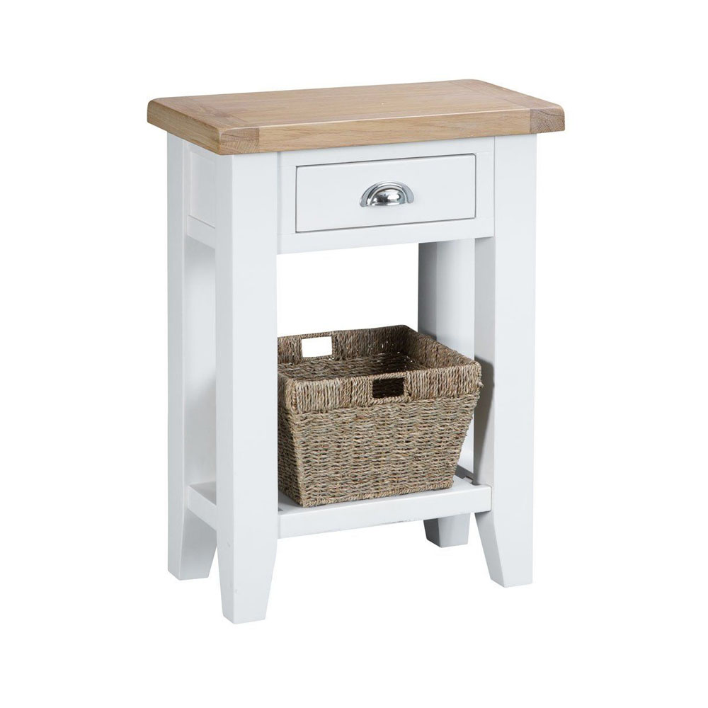 Henley White Telephone Table