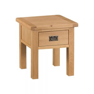 Oakley Rustic Lamp Table with Drawer