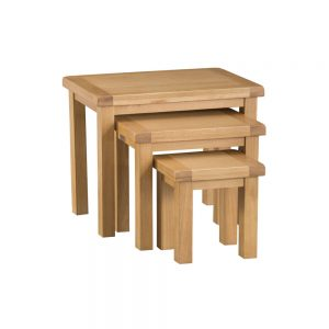 Oakley Rustic Nest of 3 Tables