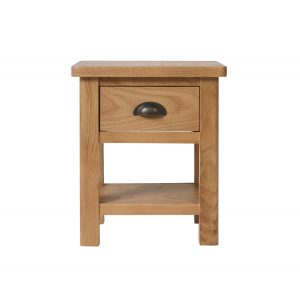 Childon Oak 1 Drawer Lamp Table