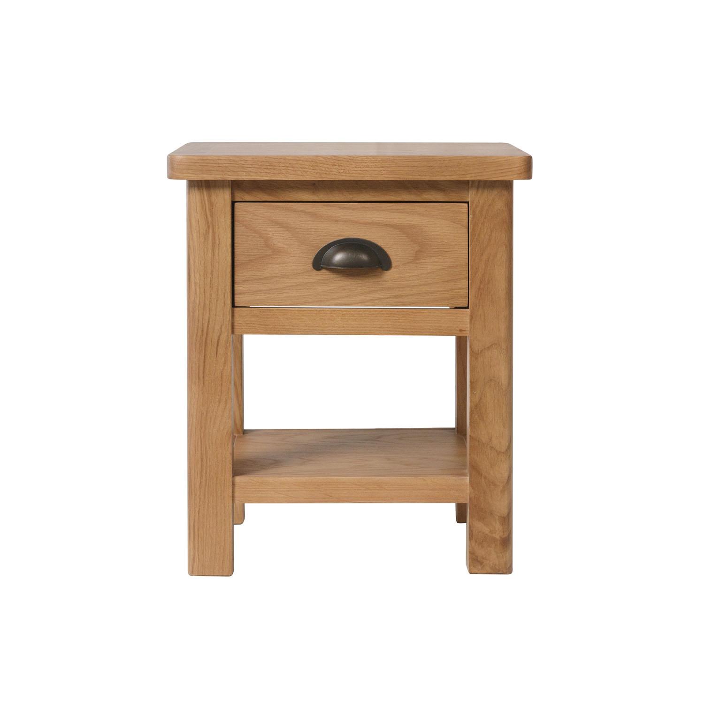 Childon Oak 1 Drawer Lamp Table