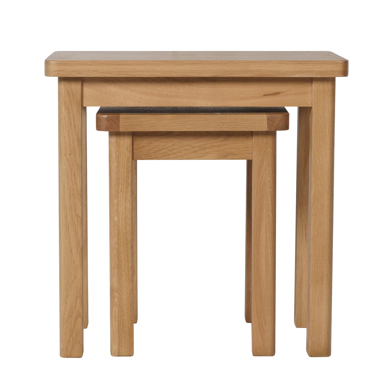 Childon Oak Nest of 2 Tables