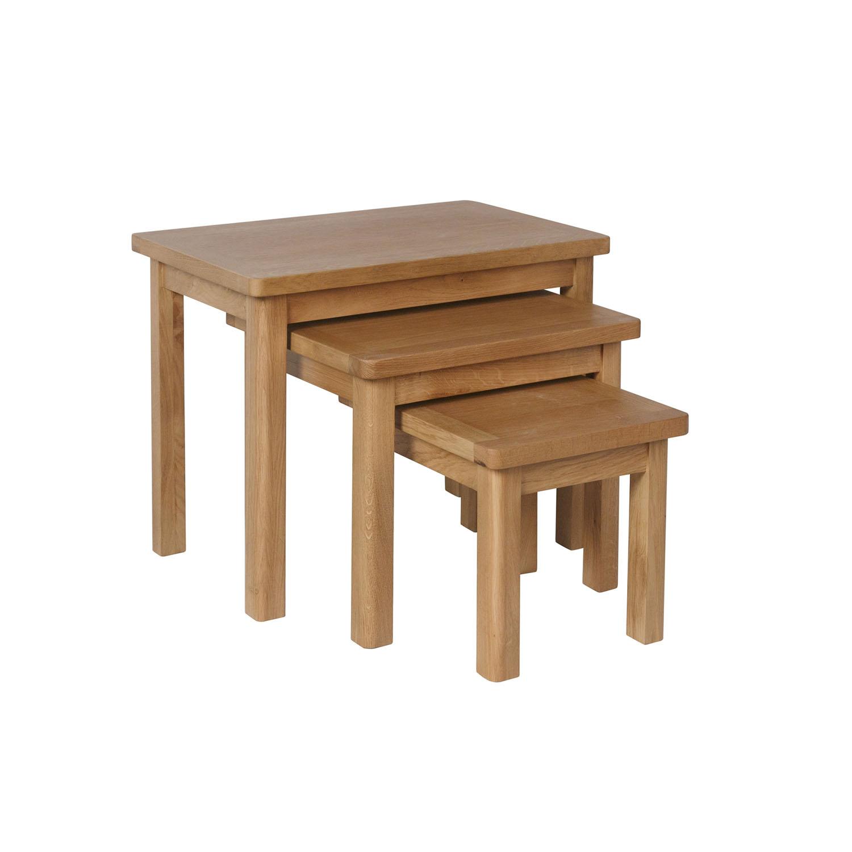 Childon Oak Nest of 3 Tables
