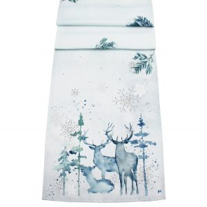 "Peggy Wilkins Fantasy Forest Christmas Table Runner 13""x70"""