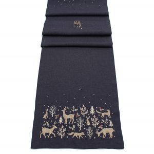 Peggy Wilkins Woodland Way Christmas Table Runner - 14 x 75in