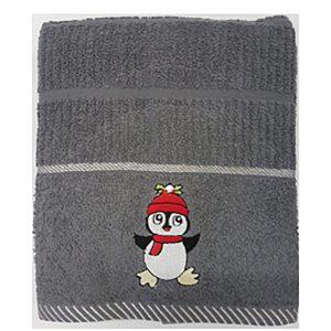 Xmas Kitchen Towel - Penguin Grey