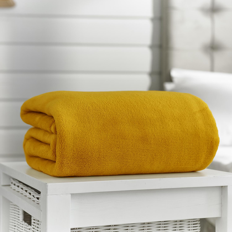 Deyongs Snuggler Touch Throw 140x180 Mustard