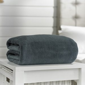 Deyongs Snuggle Touch Throw 140x180 Charcoal