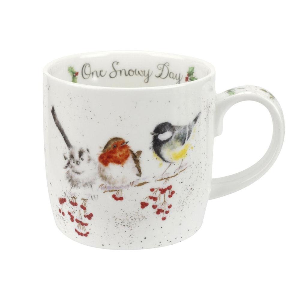 Wrendale One Snowy Day (Birds) Mug