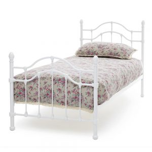 Paris 3ft Single Bedstead White Gloss (90cm)