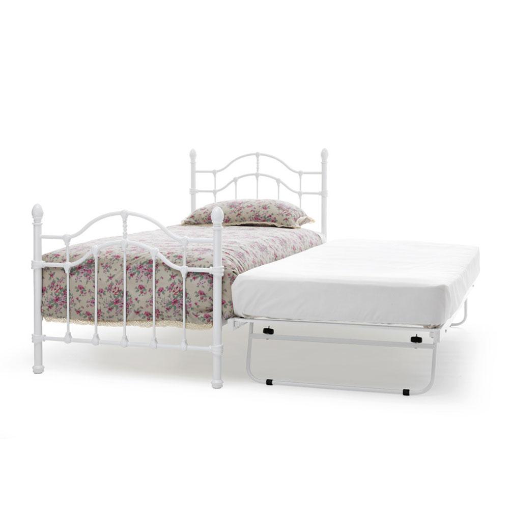 Paris 3ft Single Guest bed White Gloss (90cm)