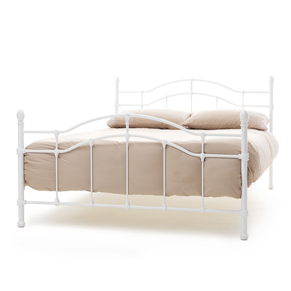 Paris 4ft Small Double Bedstead White Gloss (120cm)