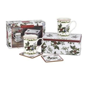 Portmeirion The Holly and The Ivy 5 Piece Tin Set