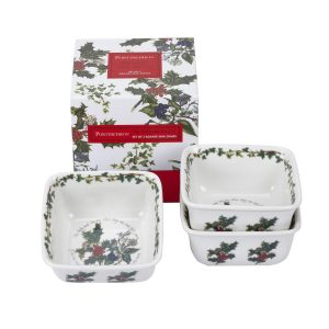 Portmeirion The Holly and the Ivy Mini Square Dishes Set of 3
