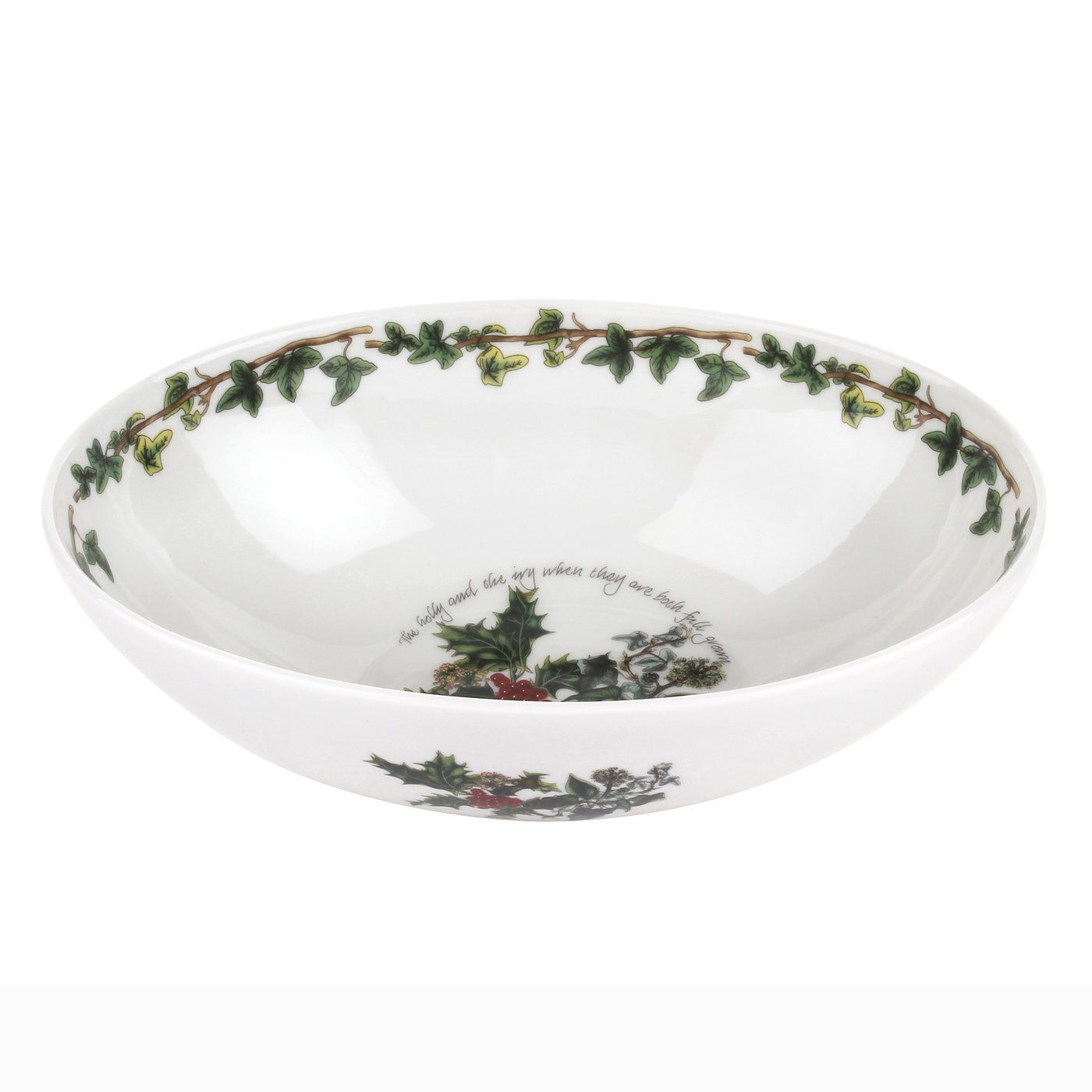 Portmeirion The Holly and the Ivy Oval Nesting Bowl 9 Inch
