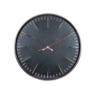Copper & Black Round Wall Clock