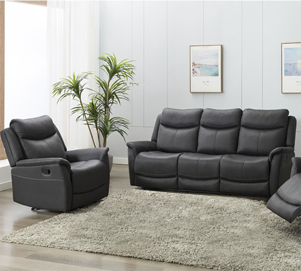 Ancona 2 Seater Electric Recliner- Slate