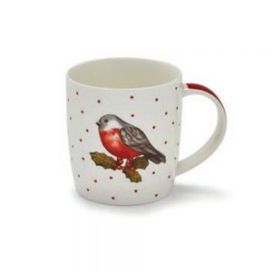 Christmas Robin Barrel Mug
