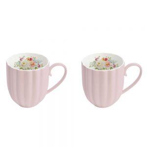 Jardin Royale Pink Set of 2 Mugs
