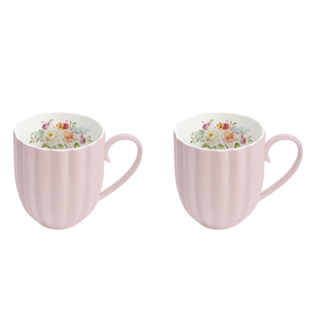 Jardin Royale Pink Set of 2 Mugs