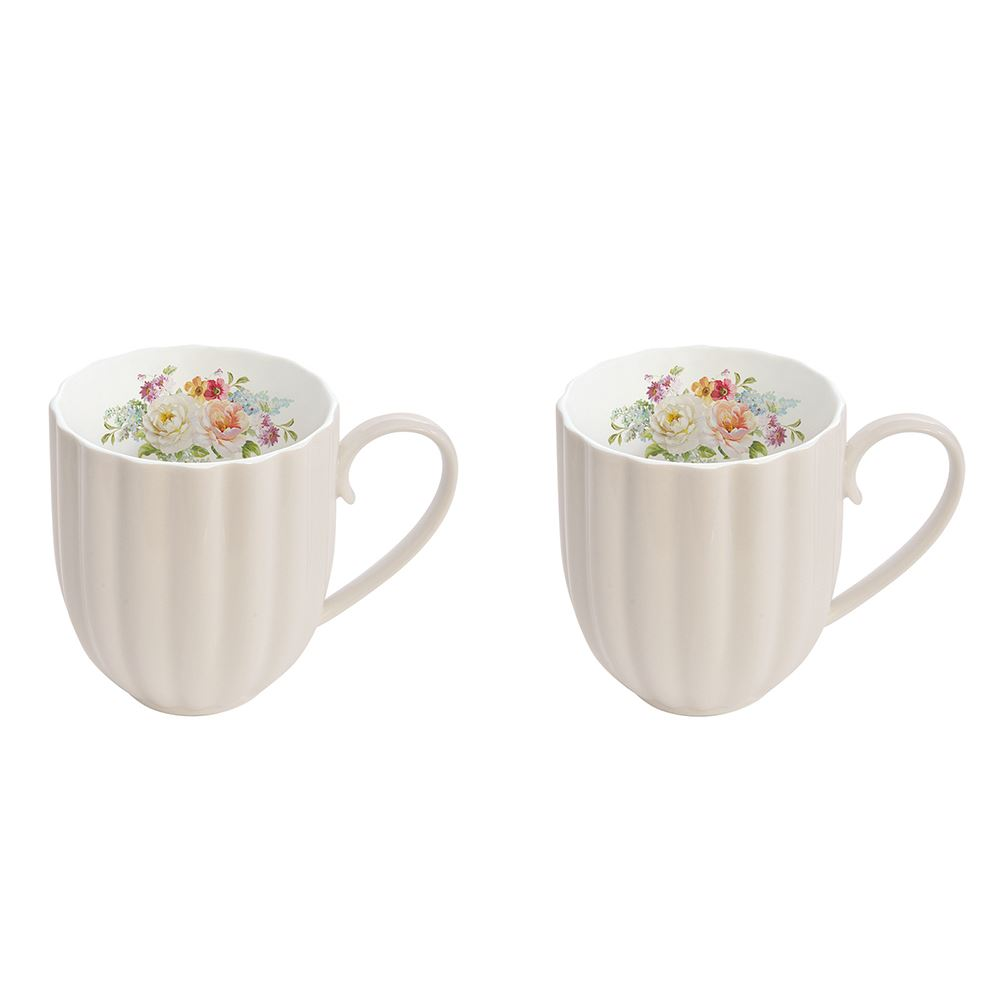 Jardin Royale Set of 2 Mugs Cream