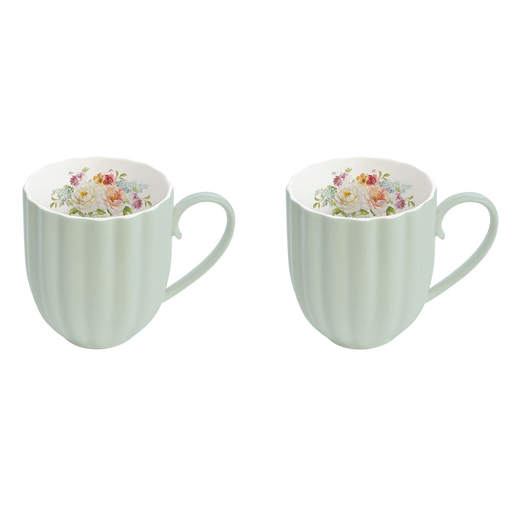 Jardin Royale Set of 2 Mugs Green