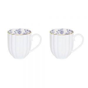 Blue Peonies Set of 2 Mugs 300ML