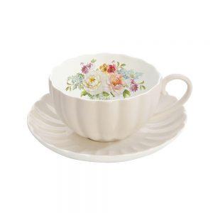 Jardin Royale Cup and Saucer Set Cream