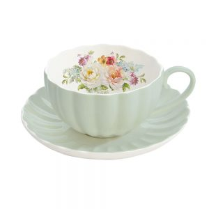 Jardin Royale Cup and Saucer Green