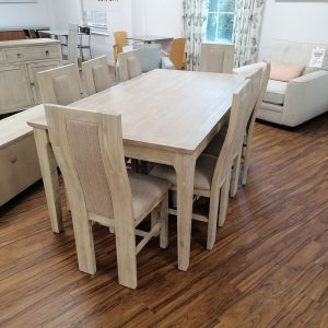 Coast Table 1.8m Table & 8 Chairs