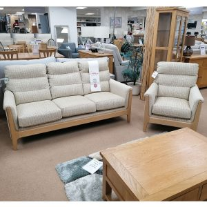 Cinitique Lydia 3 Seater & Chair
