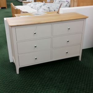 Woodley Painted 6 Drawer Chest
