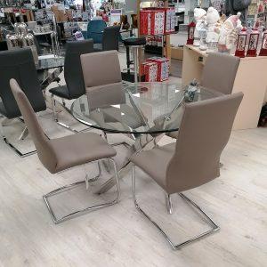 Caspian Table & 4 Santorini Chairs