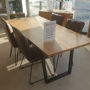 Scala 1.8m Table & 4 Chairs Set