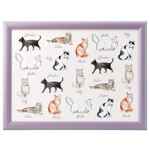 Pastel Pets Cat Lap Tray