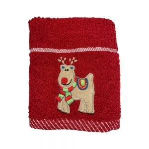 Xmas Kitchen Towel - Reindeer Red