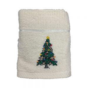 Xmas Kitchen Towel - Christmas Tree Cream
