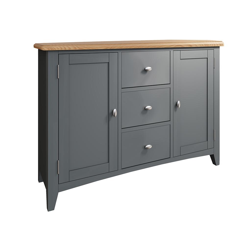 Hurstley Grey Large Sideboard