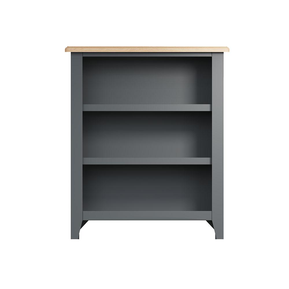 Hurstley Grey Small Wide Bookcase