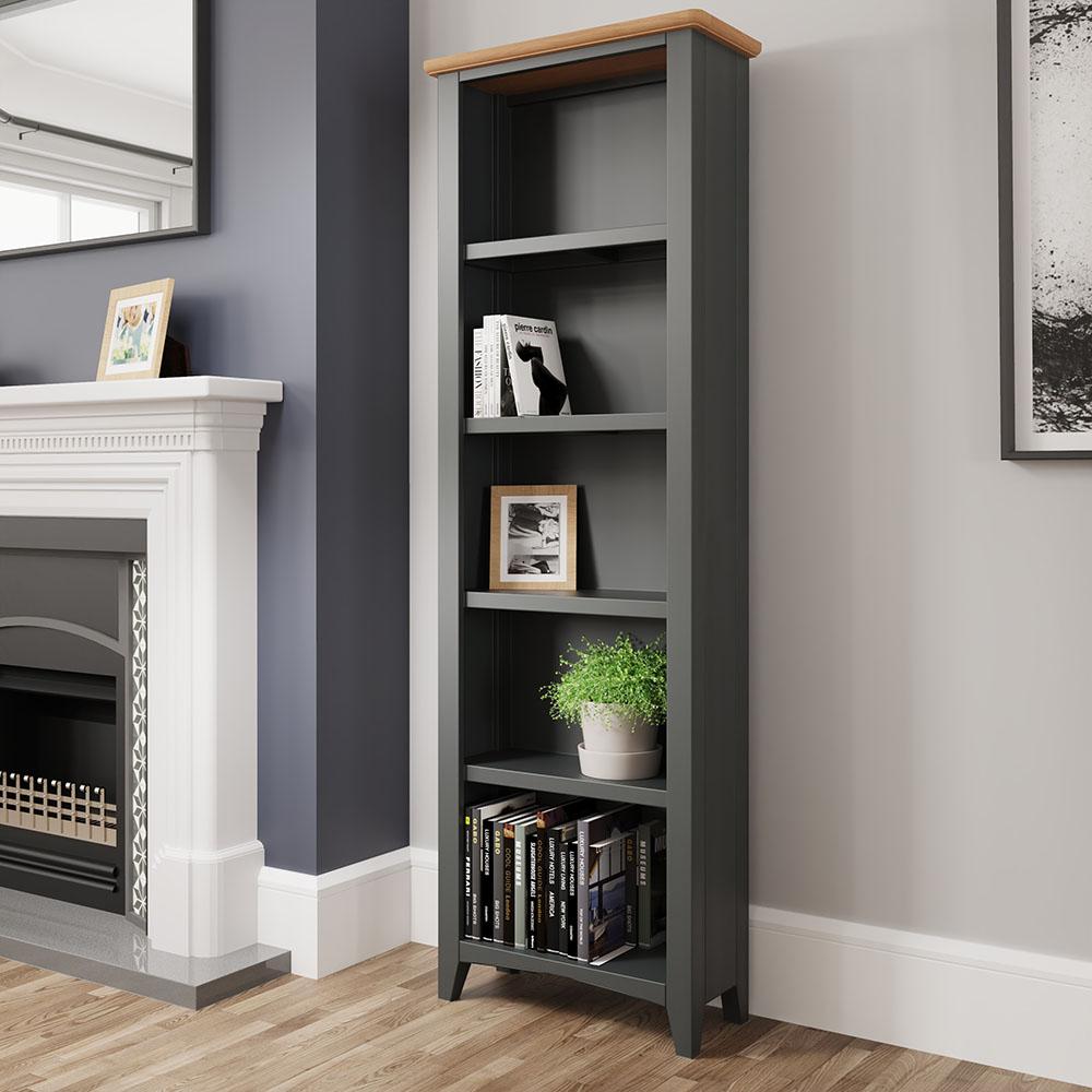 Hurstley Grey Large Bookcase