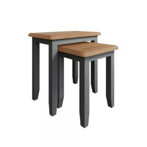 Hurstley Grey Nest of 2 Tables