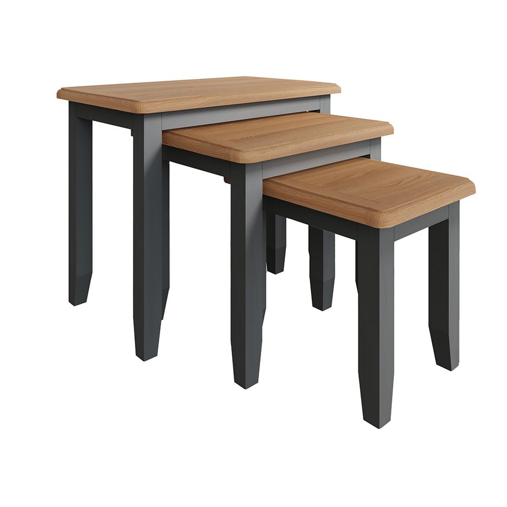 Hurstley Grey Nest of 3 Tables