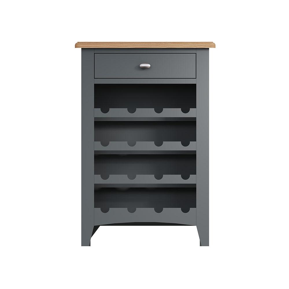 Hurstley Grey Wine Cabinet